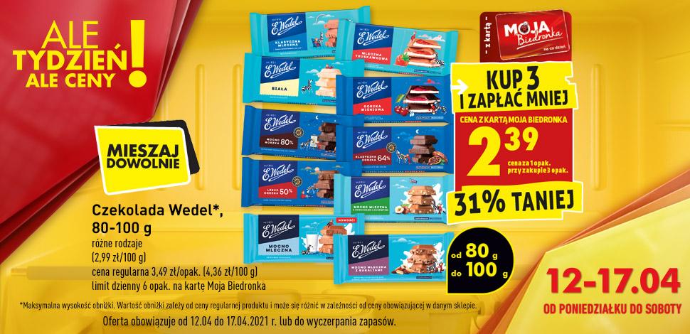 Ale tydzień czekolada wedel - kup 3 i zapłać mniej z kartą mb