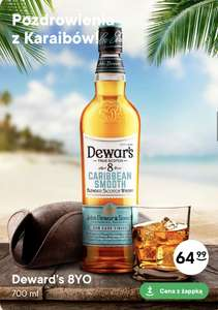Whisky Dewar's Caribbean Smooth 8YO 0,7L Żabka (92,84 zł/L)