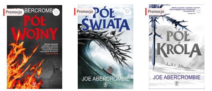 Ebooki z serii Morze Drzazg autorstwa Joe Abercrombie po 13,46, lub w pakiecie za 35,70