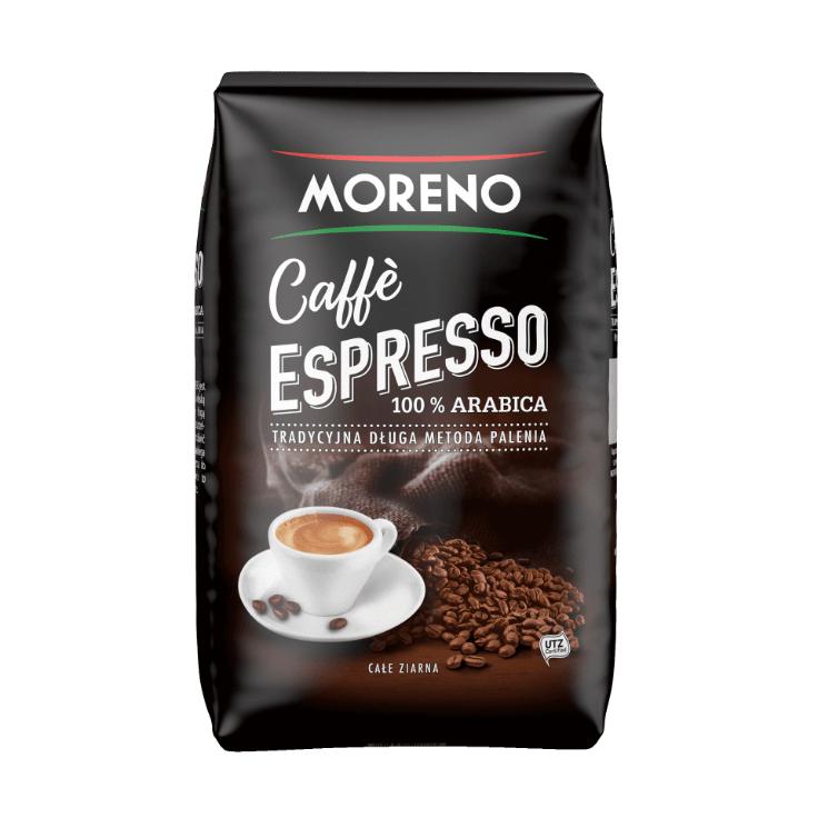 Kawa ziarnista 1kg 100% Arabica, Caffe Espresso Moreno. Aldi