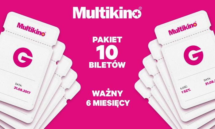 Karnet do Multikina ważny 6 miesięcy (10 biletów)
