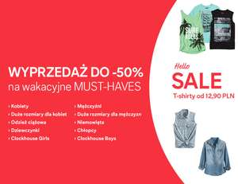 Wyprzedaż do -50% na wakacyjne ubrania @ C&A