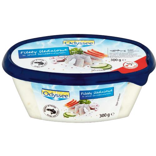 Filety śledziowe w sosie ODYSSEE 300g 12,63 zł/1 kg