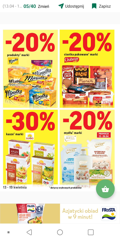 Produkty marek minutka, sonko, luksja oraz chabrior w przecenie do - 30% | Intermarche