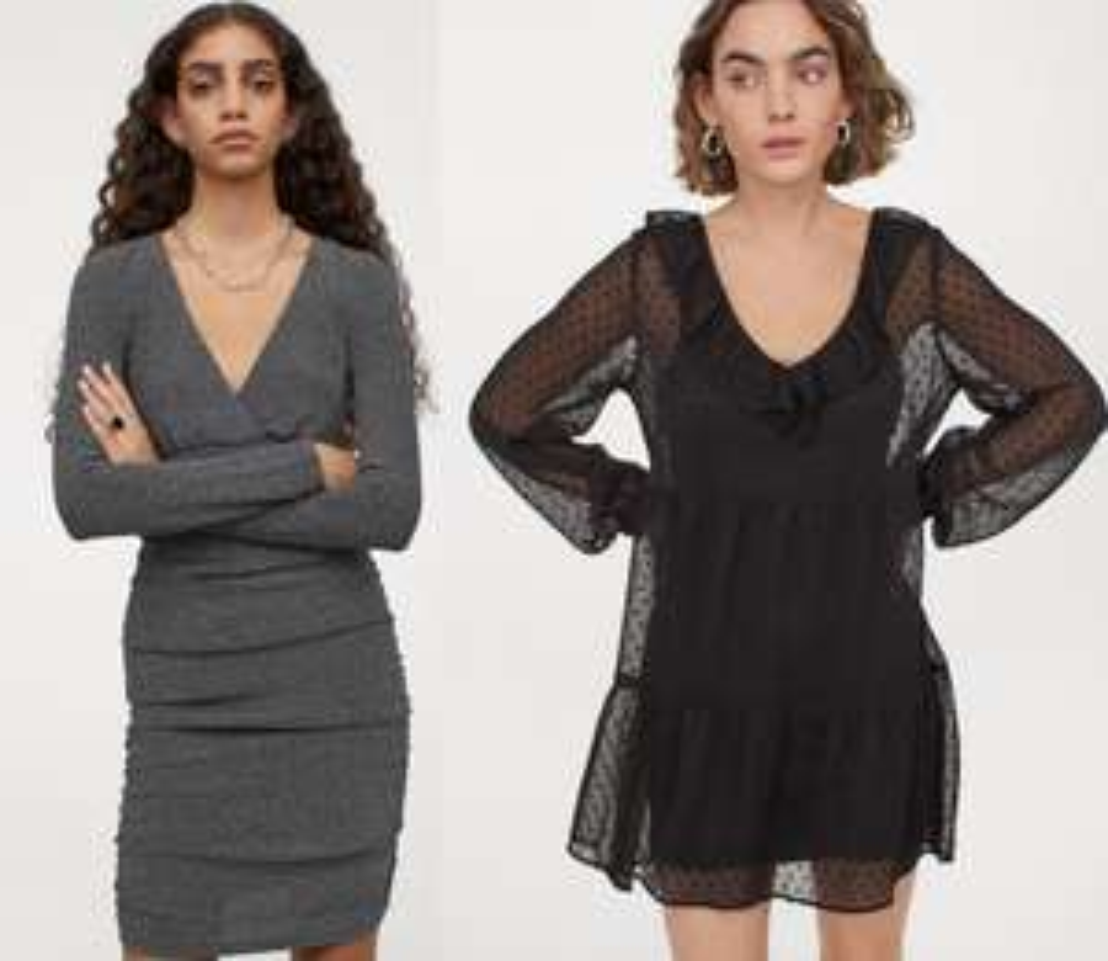 Brokatowa sukienka za 29,9 zł i sukienka w groszki za 39,9 zł @H&M