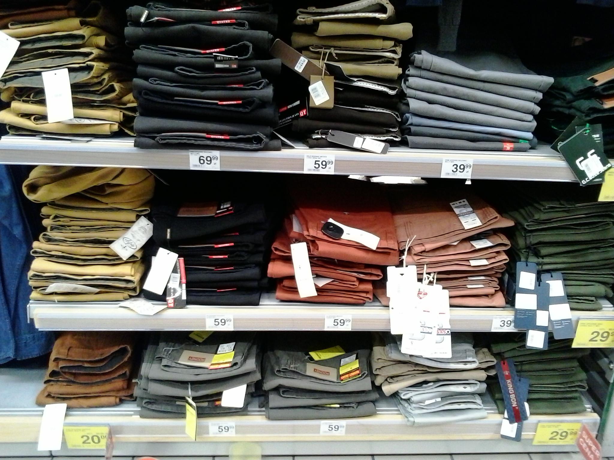 Przeceny na męskie spodnie oraz koszule | Carrefour Arkadia Warszawa