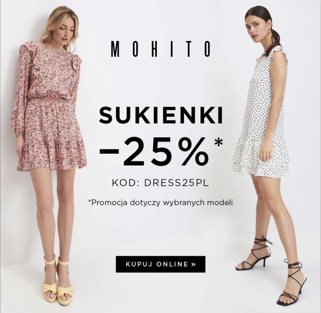 -25% na sukienki - promocja dotyczy wybranych modeli @Mohito