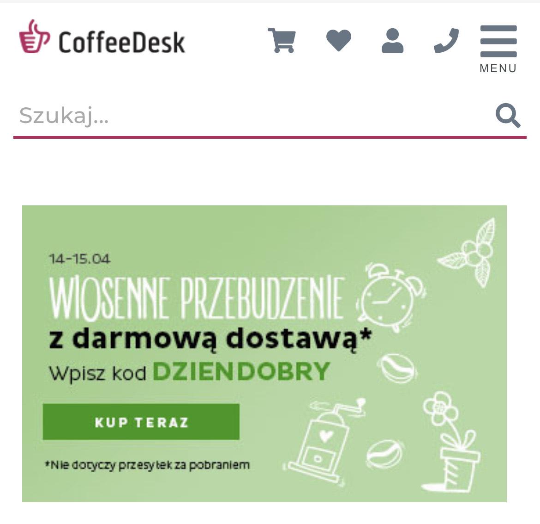Darmowa dostawa w coffedesk