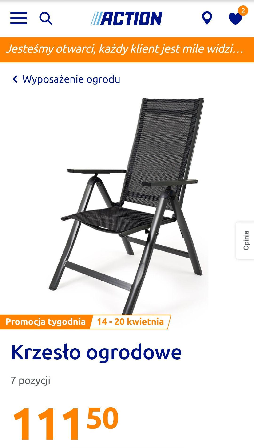 Składane krzesło ogrodowe, balkonowe, tarasowe