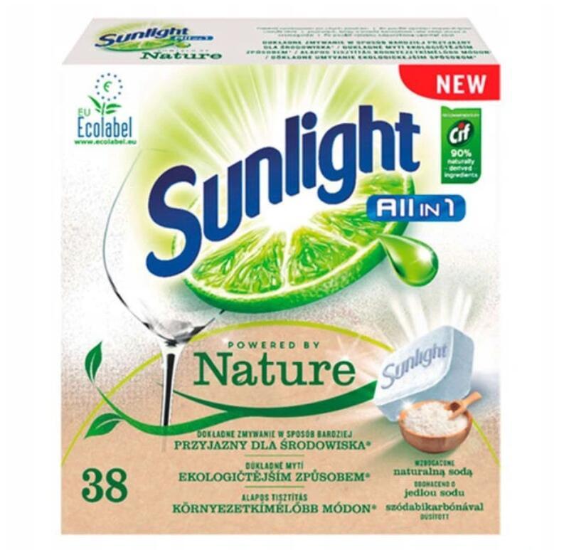 Sunlight All in 1 Tabletki do zmywarki 38szt 33gr/tab