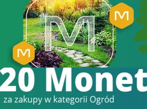 +20 Monet przy zakupach od 300 zł w kategorii Ogród na Allegro