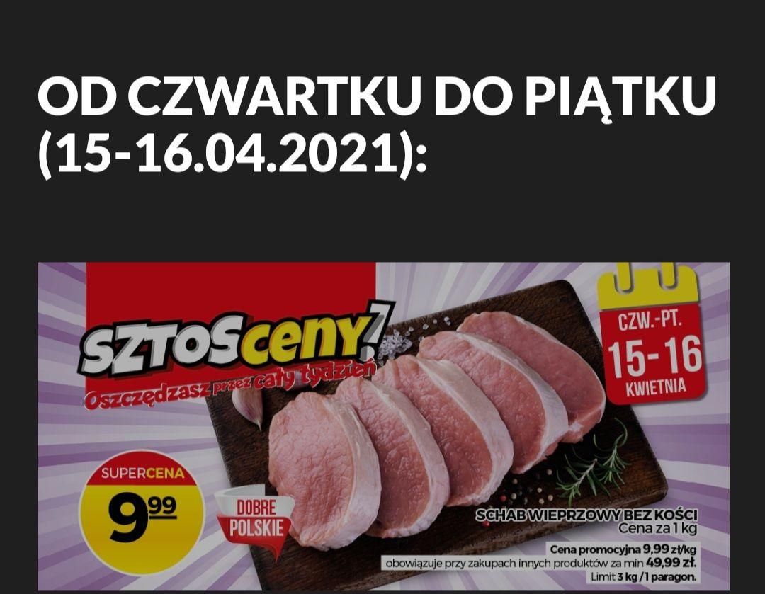 Schab wieprzowy bez kości z Polski. Topaz