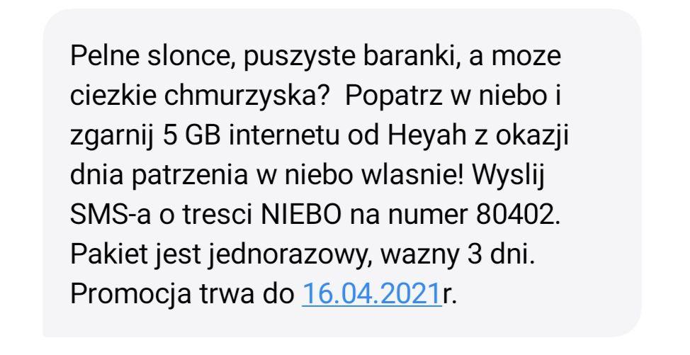 Heyah - 5GB internetu na 3 dni