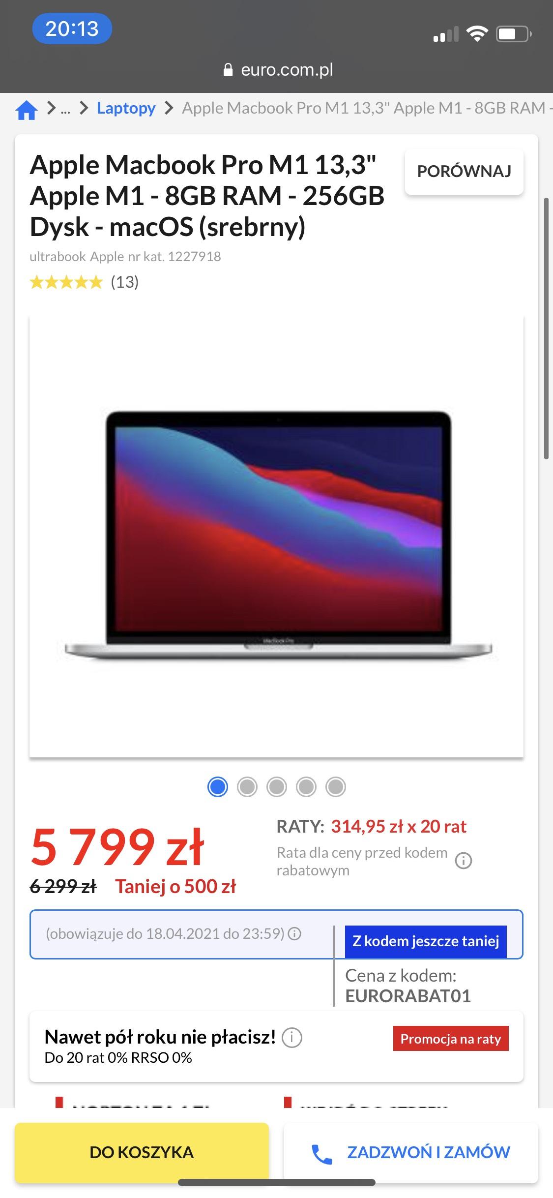 MacBook Pro 13 M1 8GB 256GB