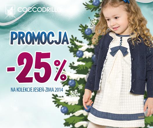 Rabat 25% na kolekcję jesień/zima 2014 @ Coccodrillo