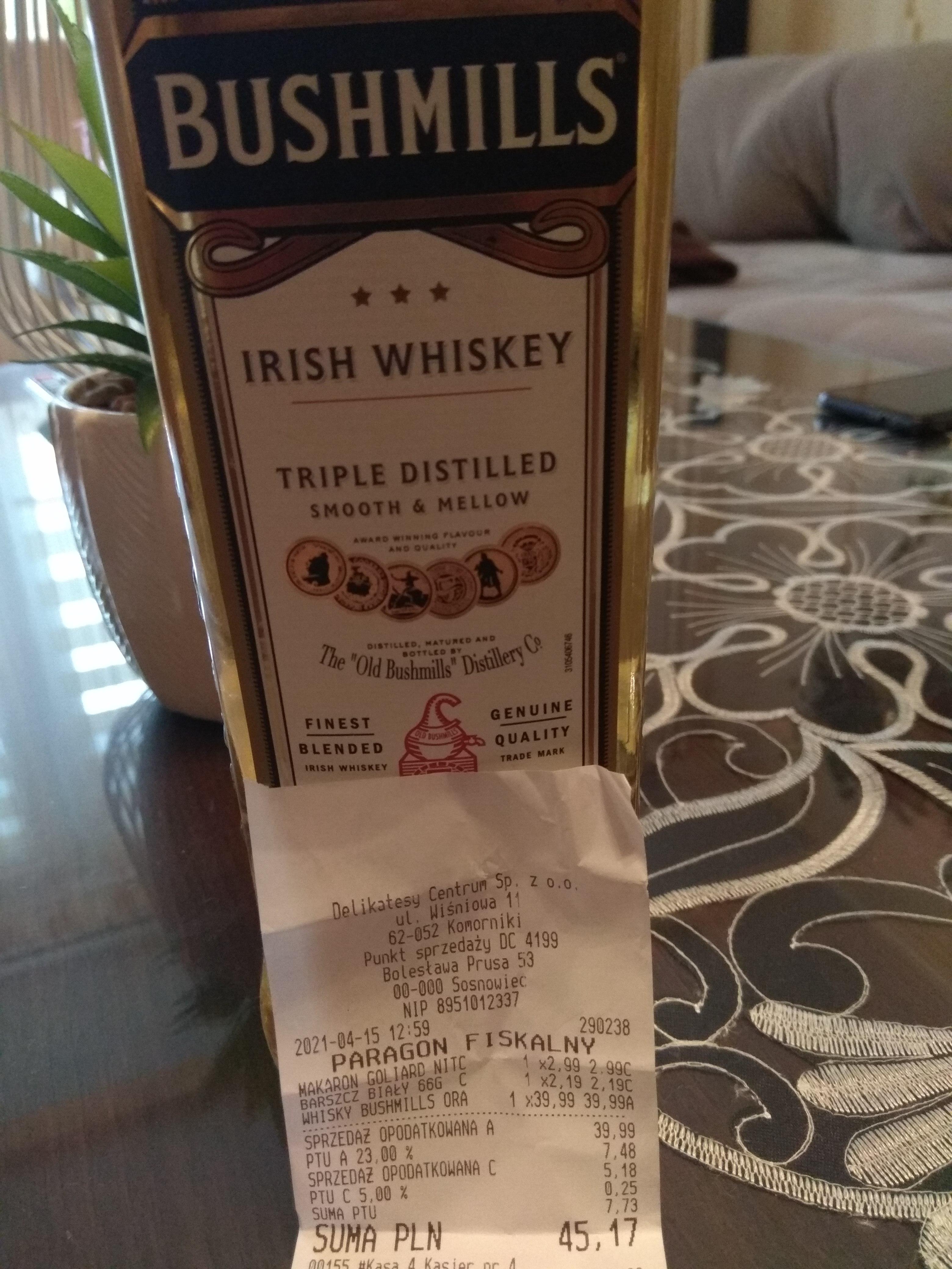Bushmills Irish Whiskey 0,7
