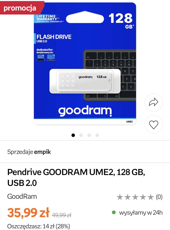 Pendrive UME2 128GB USB2.0 GOODRAM