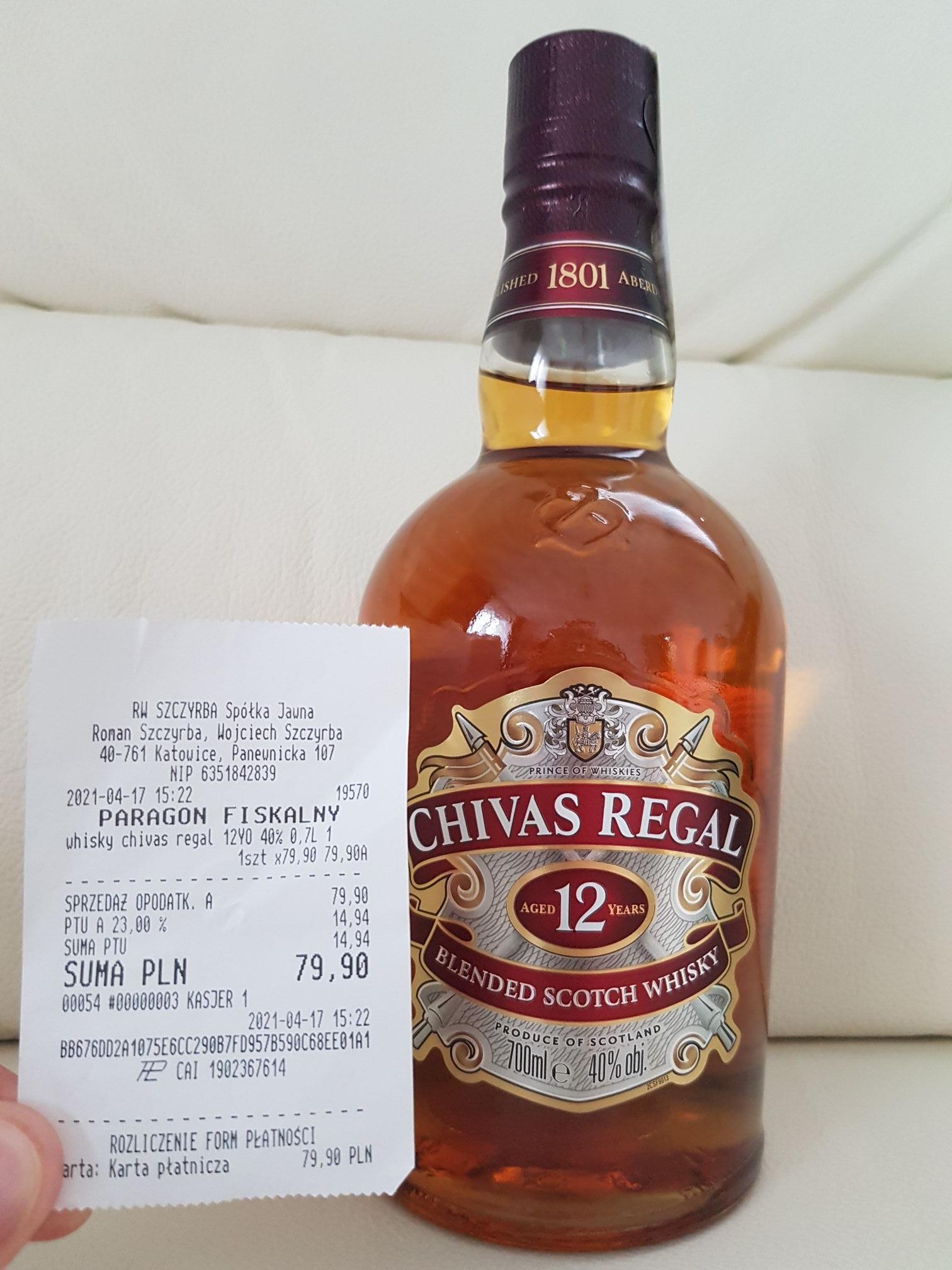 Whisky Chivas Regal 12yo 0,7l