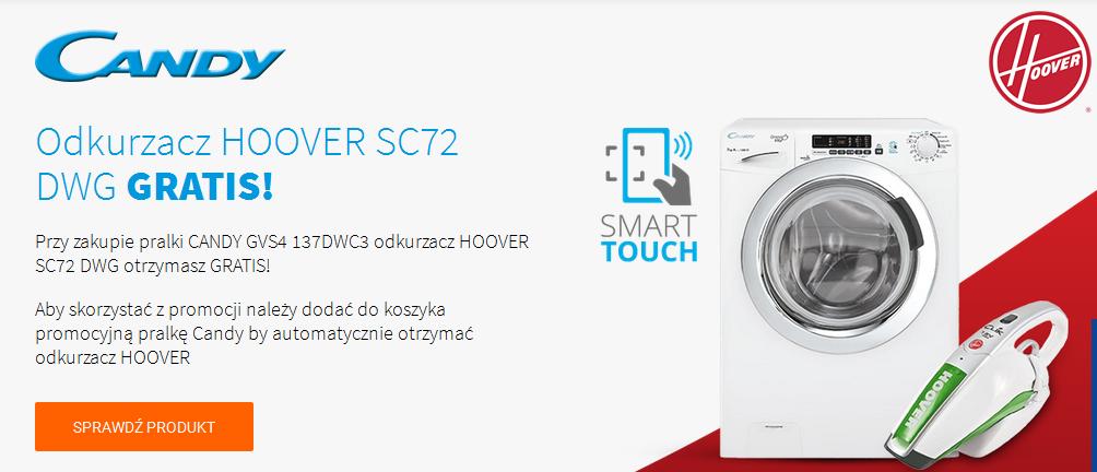 Odkurzacz ręczny Hoover gratis przy zakupie pralki Candy @ Avans