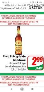 Piwo Połczyńskie na miodzie Drahimskim butelka 0,5L /Dino/