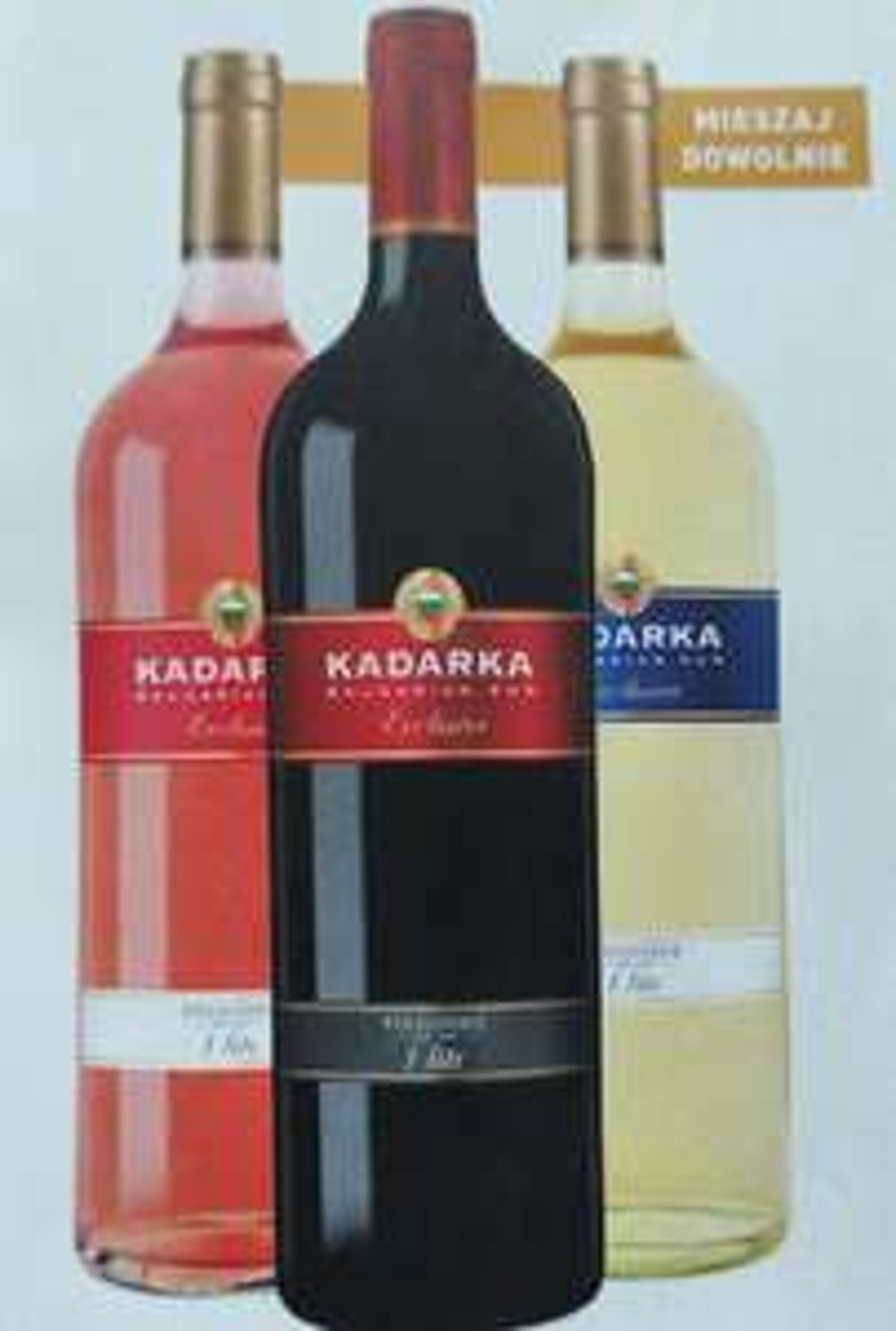 Wino Kadarka 1l 7,99 zł przy zakupie 2 but. Biedronka