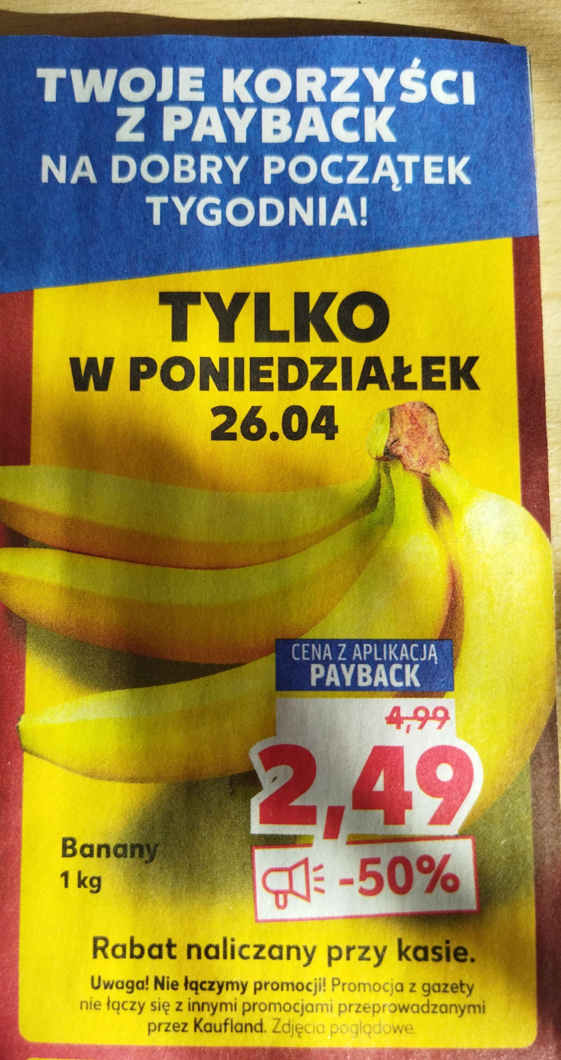 Banany z kartą Payback - Kaufland