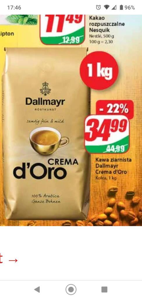 Kawa Ziarnista dallmayr Crema Doro 1kg /Dino/