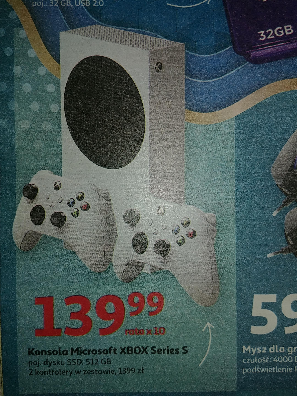 Xbox Series S - 2 kontrolery w zestawie Auchan