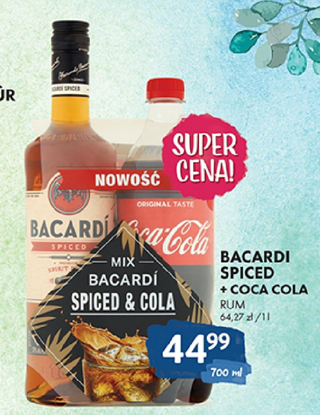 Rum Bacardi Spiced + cola gratis, Carta Blanca + kubek 0,7l 37,5% Al Capone