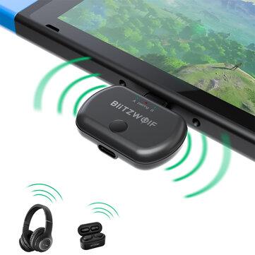 Transmiter Bluetooth BlitzWolf BW-BL1 do Nintendo/PS4 / Bangood wysyłka z UK
