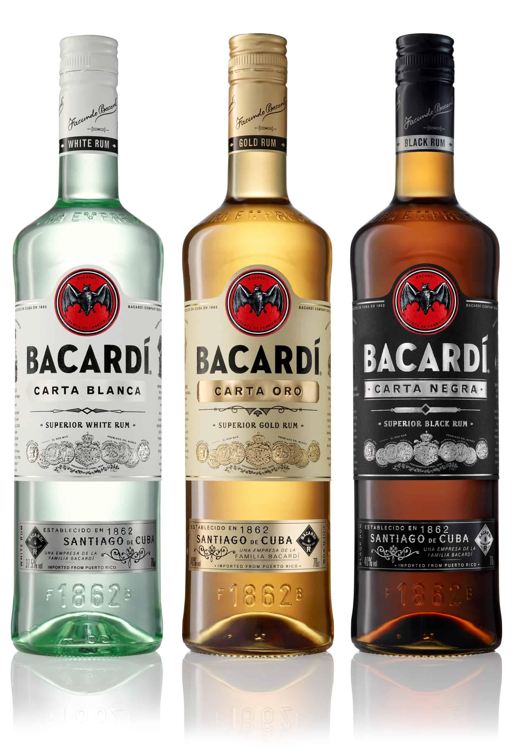 Rum Bacardi Bianco, Spiced, Carta Negra 0,7l, Szczyrba Alkohole