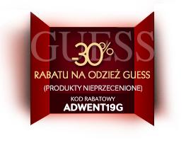 30% rabatu na odzież marki Guess (DZIŚ) @ Riccardo