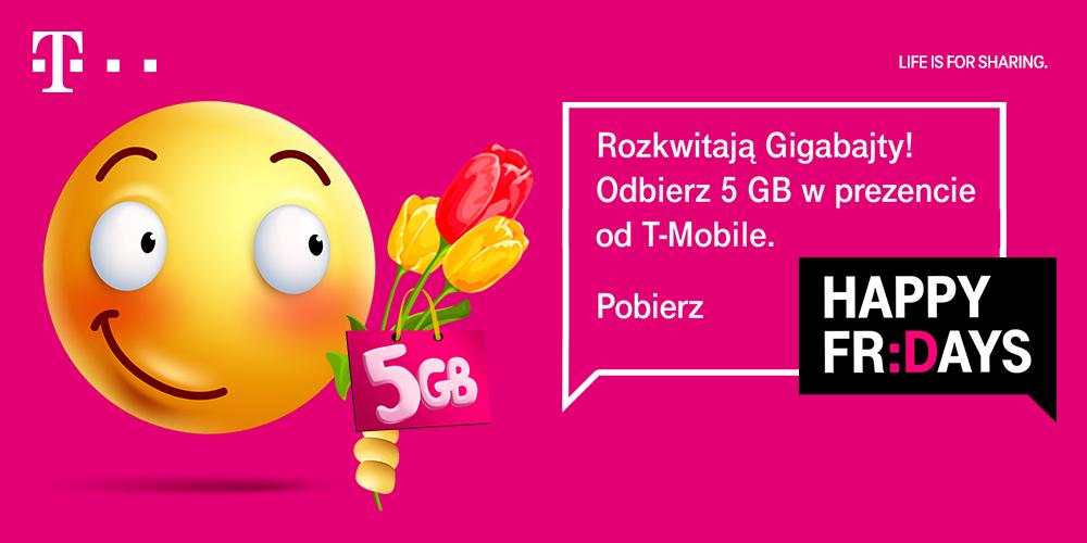T-Mobile 5 GB internetu do wykorzystania za darmo