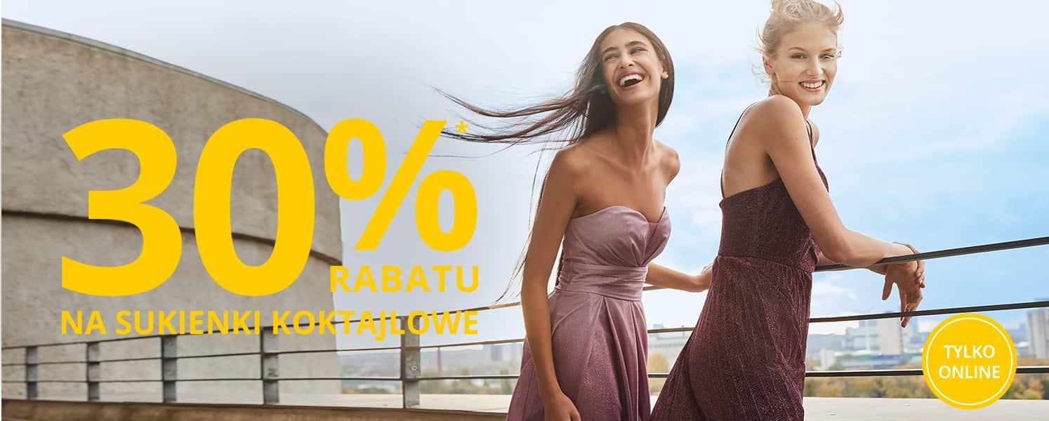 Dodatkowe 30% rabatu na sukienki koktajlowe i balowe (także przecenione) @ Peek&Cloppenburg
