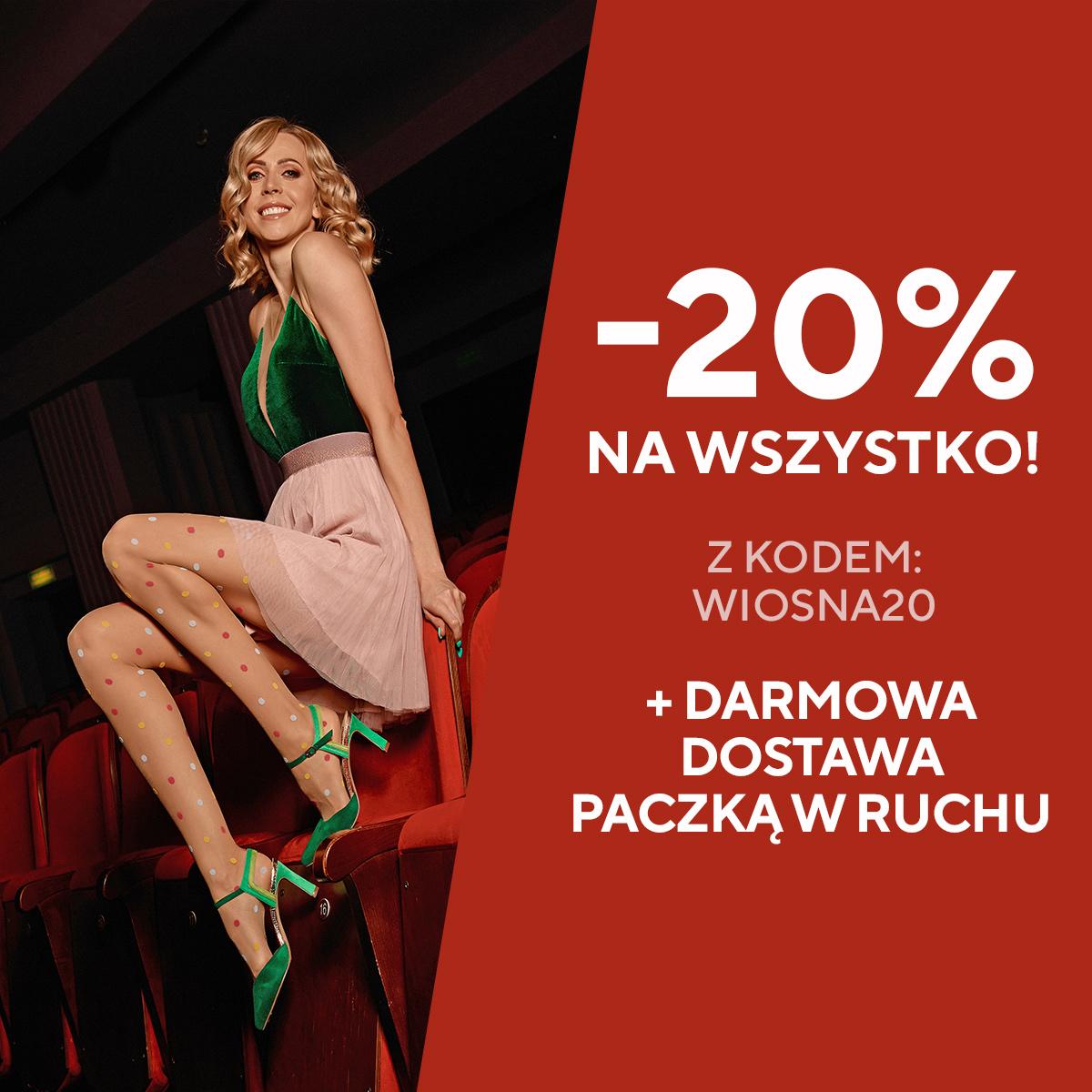 20% zniżki + darmowa dostawa na gabriella.pl