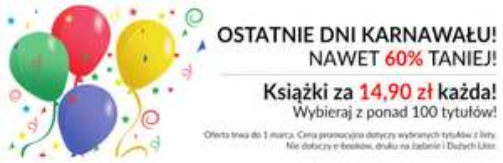 Ponad 100 tytułów po 14,90zł @ Prószyński