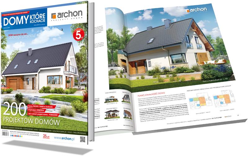 Bezpłatny katalog z projektami domów ARCHON+