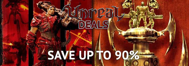 Gry z serii Unreal taniej w Gamersgate (np. Unreal Deal Pack za ~12zł)