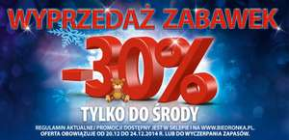 Wyprzedaż zabawek! -30% @ Biedronka