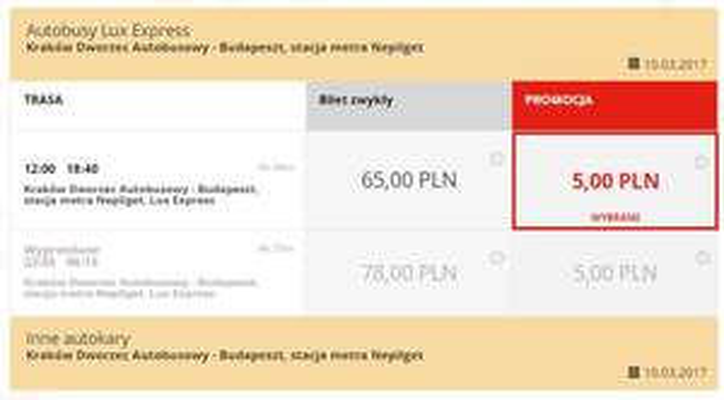 Bilety z Krakowa lub Warszawy do Wiednia, Bratysławy, Budapesztu i Brna po 5zl @ Lux Express