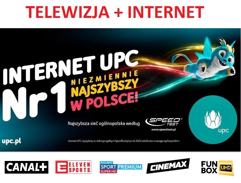 194 kanały TV + światłowód 750 Mb/s z umową na 12 m-cy i instalacją za 1 zł od UPC