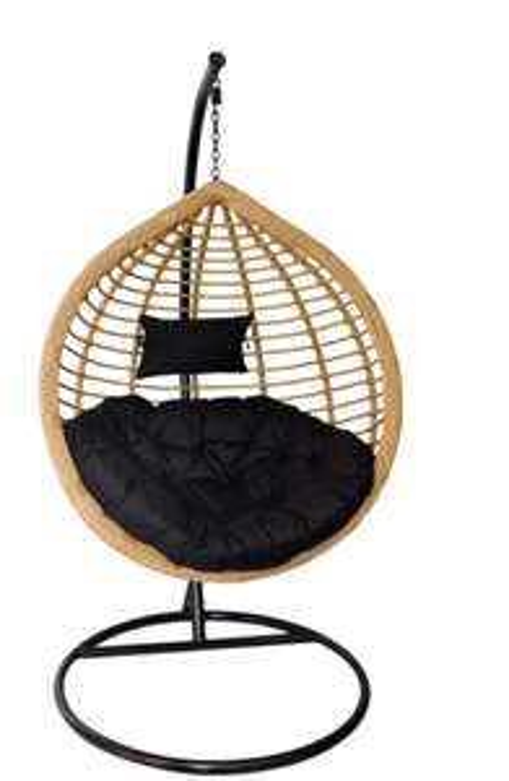 Kokon, bujak, fotel bujany SARA NATURAL (czarny)