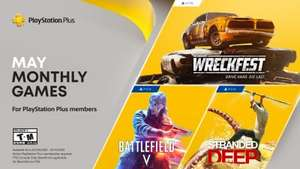 Playstation Plus maj 2021, Battlefield V, Stranded Deep, Wreckfest (tylko PS5) PS4 PS5