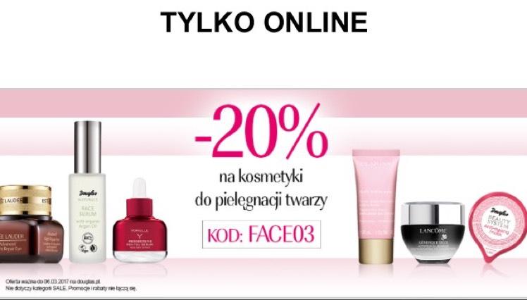 -20% na kosmetyki i urządzenia do pielęgnacji twarzy @DOUGLAS