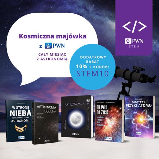 Wszystkie publikacje PWN z zakresu astronomii z dodatkowym rabatem 10%