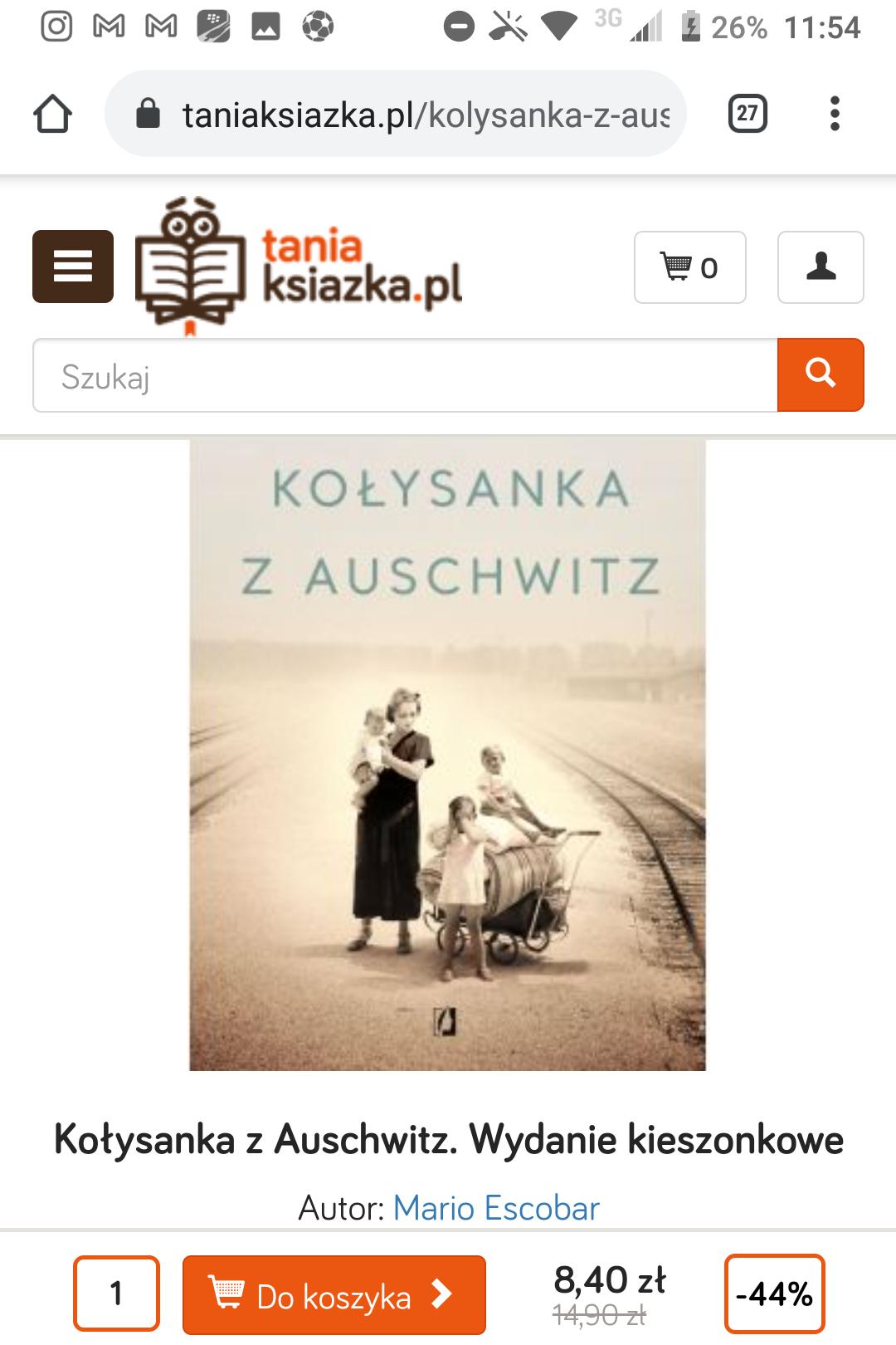Kołysanka z Auschwitz wydanie kieszonkowe