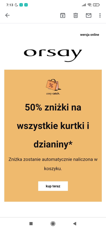 Orsay -50% na kurtki, płaszcze i dzianiny również wyprzedaż