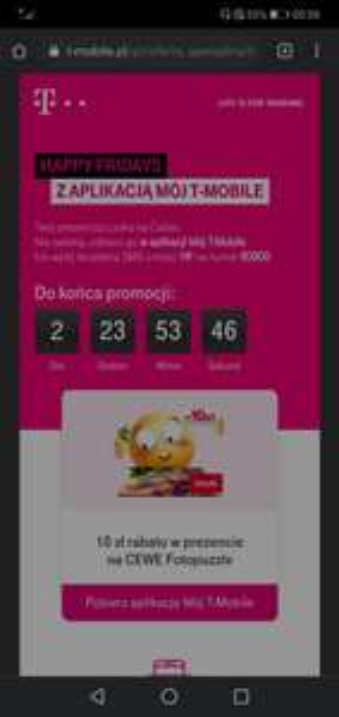 Happy Fridays - T-Mobile Happy Fridays 10 zł rabatu w prezencie na CEWE Fotopuzzle