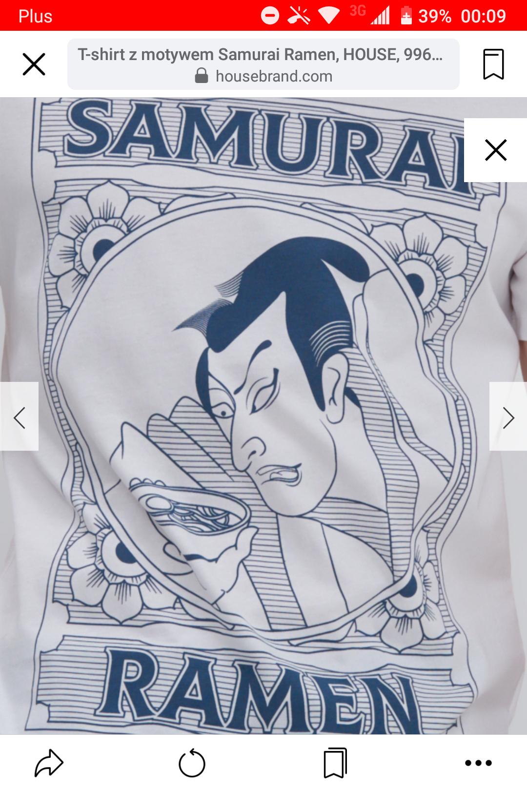 Koszulka Samurai Ramen sklep House