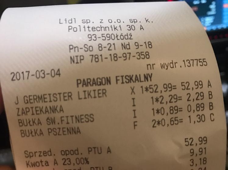 Jagermeister 0.7L najniższa cena! @LIDL